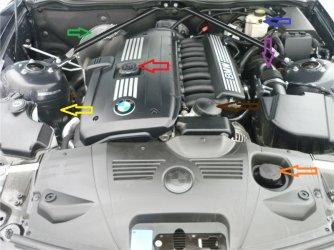 Motorraum 3 0si Begriffe Zroadster Com Bmw Z1 Z2 Z3 Z4