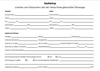 Vorvertrag Für Autoverkauf Abschließen Zroadstercom Bmw Z1 Z2